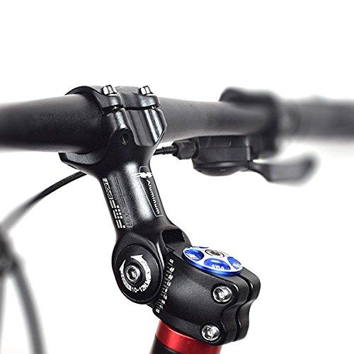 Seasaleshop Fahrrad Lenkervorbau 31.8 Verstellbar Aluminiumlegierung MTB Fahrrad Vorbauten 110mm Sport im Freien Radfahren Zubehör by