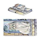 TropicalLife iRoad Juego de toallas de algodón 3 piezas de pintura de gato animal altamente absorbentes toallas de mano toallas de baño juego de toallas de baño para cocina