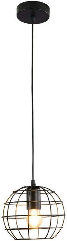 Heller Innenraum Schlafzimmer Wohnzimmer Beleuchtung Cafe Bar einfachen schmiedeeisernen Kronleuchter, 10 × 100 × 18 cm, schwarz
