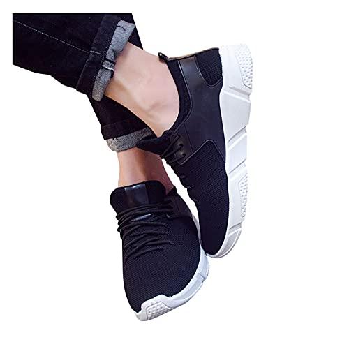 FeelFree+ Zapatos Casual Deportivos Fashion Calzado para Pareja Mismos Zapatos Unisex Suela Gruesa Color Sólido Malla Aumentada Cuñas Transpirables Zapatillas de Deporte de Ocio al Aire Libre