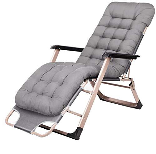 GGQF Chaise Longue Pliable Transat avec Oreiller Trou Jardin Plage inclinable extérieur réglable Pad épais extérieur sièges,J