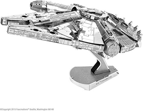 Metal Earth–5061302–Maqueta 3D–Iconx–Star Wars–Millennium Falcon–10,8x 7,6x 6,99cm–2Piezas