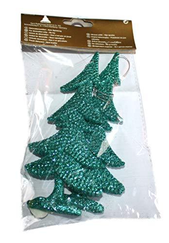 Weihnachtsbaum Hänger Baum 2er-Set grün-Glitzer