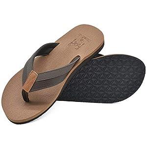 KuaiLu Chanclas Hombre Verano Playa Piscina Comodas Piel Flip Flops Planas Caminar Antideslizante Yoga-Espuma Sandalias… | DeHippies.com