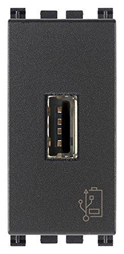 Vimar 19292 Arké unità Alimentazione Presa USB a Muro 5V1,5A 1M Grigio