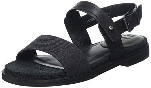 G-STAR RAW Damen Remi Espadrille Offene Sandalen mit Keilabsatz, Schwarz (Black 990), 37 EU