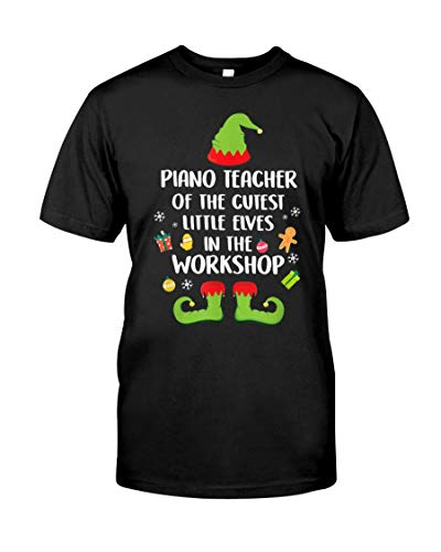 Playera de Disfraz de Elfos de Piano Teacher T-Shirt