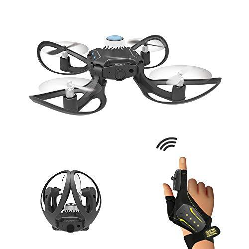 Tanktoyd 2.4G RC Drone Quadcopter Gesture-Sensing-Steuer Dron Altitude Hold Fernbedienung Hubschrauber Spielzeug Falten Vier Achsen Luft Drone Somatosensory Fernbedienung Flugzeug