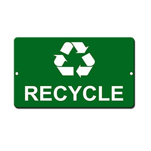 Kysd43Mill Cartel de Reciclaje de Metal novedoso para Pared de Metal, Letrero para el hogar, por lo Tanto, para el Patio, Idea de Regalo de 8 x 12 Pulgadas