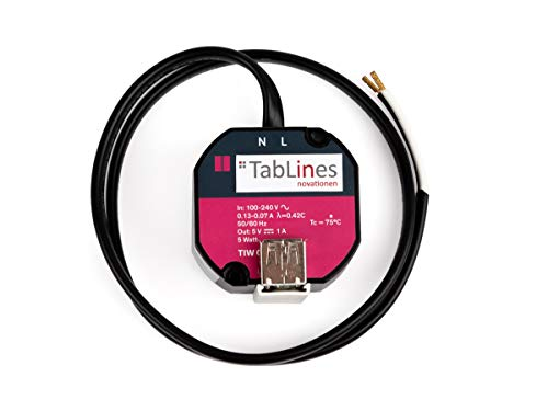 TabLines TNT001 USB-Adapter Tablet Netzteil schwarz
