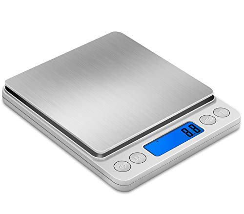 Kitchen scale, electronic scale, baked food, gram scale, baking scale, 0.1 commercial food, household balance scale, accurate gram scale, standard version, 0.1g/2kg+double tray