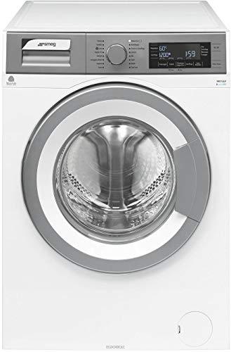 Smeg WHT712LIT lavatrice Libera installazione Caricamento frontale Argento, Bianco 7 kg 1200 Giri/min A+++-10%