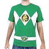 The Power Rangers Green Rangers Costume Adult T-shirt...