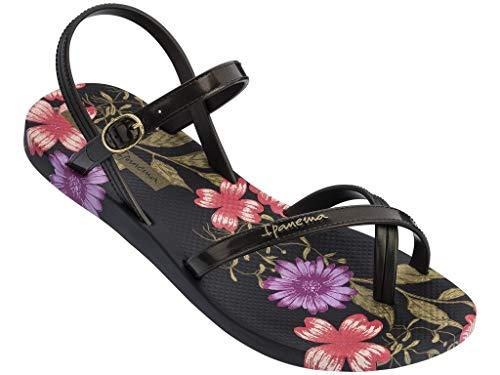 Ipanema Damen Fashion Sand VIII Fem Flache Sandale, Schwarz, 38 EU Estrecho