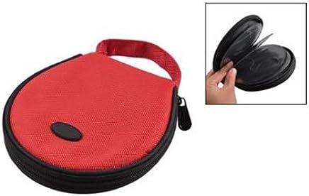 TOOGOO(R) Handtragbarer rote Reisverschluss CD-Beutel fuer 20 CDs