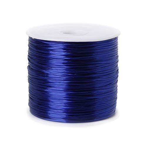 ZIJ Alambre de abalorios de 50 m/rollo de cuerda elástica para hacer joyas de 0,7 mm de hilo elástico para pulsera de bricolaje (color: azul, tamaño: 50 metros)