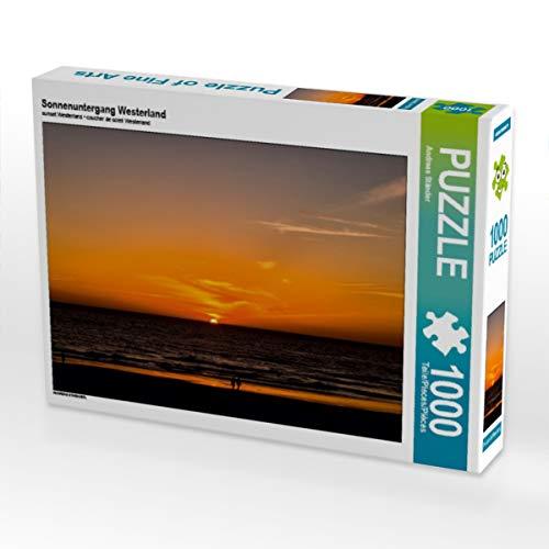 CALVENDO Puzzle Sonnenuntergang Westerland 1000 Teile Lege-Größe 64 x 48 cm Foto-Puzzle Bild von Andreas Ständer