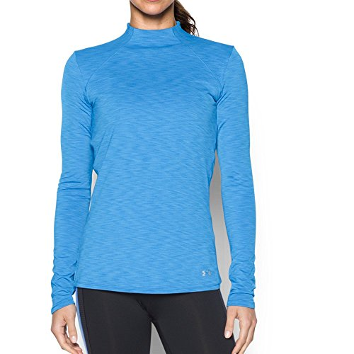 Under Armour Damen Fitness Sweatshirt UA ColdGear Mock, Water, XL