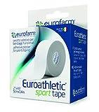 Euroathletic Sport Tape (cm 3,8 x m 10) Cinta para Sujeción Rígida, Vendaje Funcional y Deportivo, 100% Viscosa con Adhesivo Hipoalergénico de Oxido de Zinc