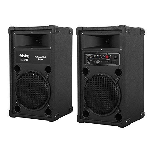 FS-4200ST Frisby Bluetooth Amplified Loud Indoor/Outdoor Speaker System Party Machine with Fm Radio, Usb, Sd Slots, Remote Control