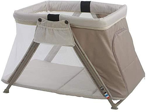 WJMLS Baby-Spielbett, Easy Folding Double Layer seitliche Öffnung for den Urlaub oder Reise Wochenende zu Bett, Zaun...