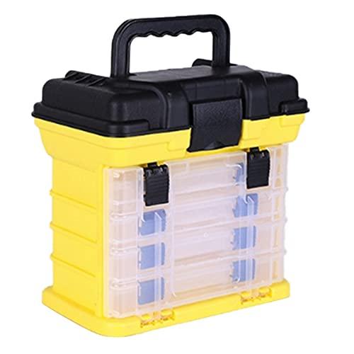 Cassetta porta attrezzi Casella portautensili a mano Parti e artigianato Toolbox con vassoi di storage 4x Organizzatore hardware di plastica per la riparazione dei camion dell'automobile della famigli