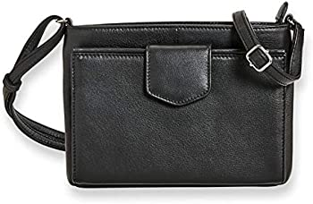 Levenger Sutton Leather Tab Front Organizer Crossbody