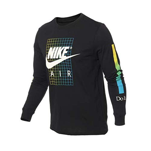 Desconocido Nike M NSW tee LS Snkr Cltr 6 Long Sleeve T-Shirt, Hombre, Black, L
