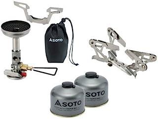 SOTO 4点セット SOD-310 SOD-725T ×2 SOD-460 マイクロレギュレーターストーブウインドマスター パワーガス250トリプルミックス 2個 ゴトク ソト