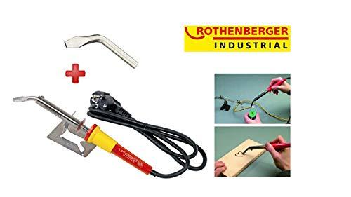 ROTHENBERGER Industrial Lötkolben, 100 W, inkl. Geräteauflage + CU-Spitze abgewinkelt/flach