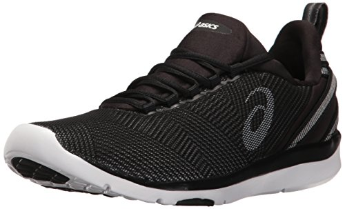 ASICS Zapatillas deportivas deportivas de mujer Gel-Fit Sana 3, negro (Negro/Blanco/Plateado), 39.5 EU