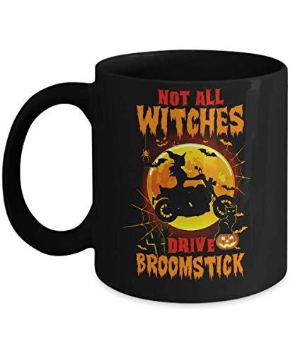 N\A No Todas Las Brujas conducen una Escoba Divertida Taza Motero de Halloween