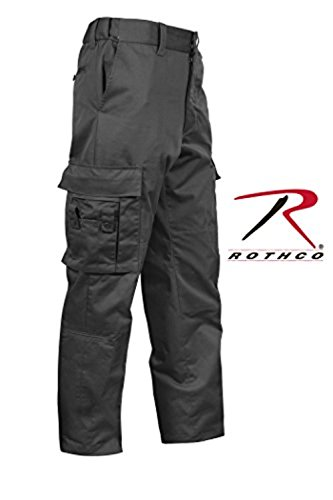 ROTHCO Deluxe EMT Pant, Black, 36