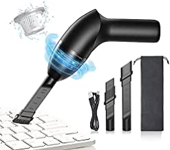 HONKYOB 4.3 KPa Keyboard Cleaner,Mini Vacuum,Cordless Handheld Desk Vacuum Cleaner with LED Light,for Cleaning Dust,Hair,Sofa,Computer,Car,Pet House
