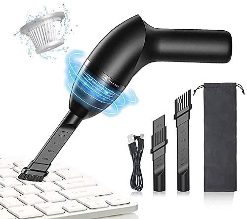 HONKYOB Limpiador de teclado de 4.3 KPa, mini aspiradora, aspiradora de escritorio inalámbrica con luz LED, para limpiar el polvo, el...