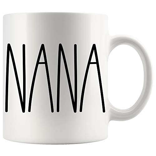 NANA Coffee Mug | NANA Rae Dunn Inspired | Rae Dunn Style | Birthday - Merry Christmas - Mother's Day | Family Coffee Mug Birthday Present For The Best NANA Ever Coffee Cup 11oz