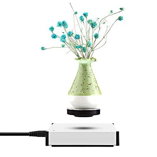 Zjchao magnetische Schwebungsplatte und drehbare Plattform mit LED-Licht, Gewicht bis 250 g (9 Unzen) EU