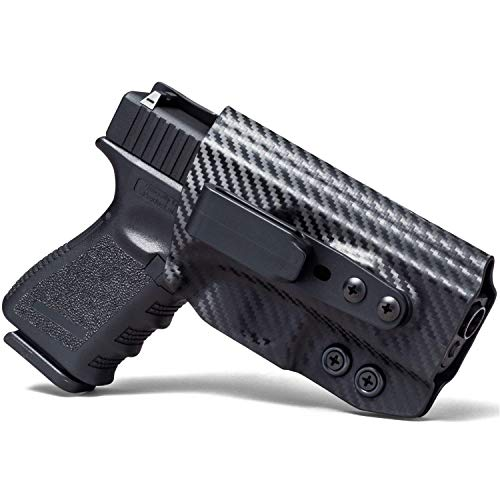 Concealment Express Tuck IWB KYDEX Holster fits 1911 3.5' Officer (NR) (Non-Sig) | Ambidextrous | Carbon Fiber Black