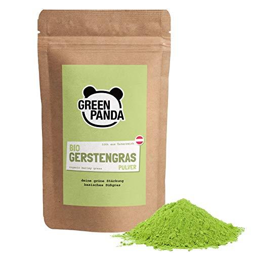 Gerstengras Pulver BIO aus jungem Gerstengras, fein gemahlen für Gerstengrassaft, Gerstengraspulver aus österreichischem Bio-Anbau, laborgeprüft und zertifiziert, 500g von Green Panda
