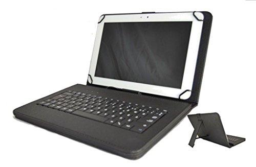 Tablet-Schutzhülle mit spanischer Tastatur (mit Buchstabe Ñ) für Samsung Galaxy Tab A – Schwarz