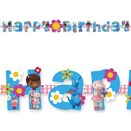 Guirlande Happy Birthday Docteur la peluche - Taille Unique
