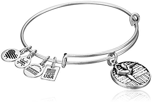 Alex and Ani Team USA Gymnastics Expandable Rafaelian Silver Bangle Bracelet