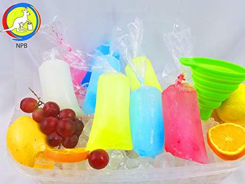 3x10 200 pcs ice Popsicle Mold Bags bpa Free /1 Free Funnel and Multipurpose Use/Vikingos/marcianos/bolsas para Bolis de Hielo/Freezen ice Popsicle Bags/ice Candy Bags/Bolsa para charamuscas
