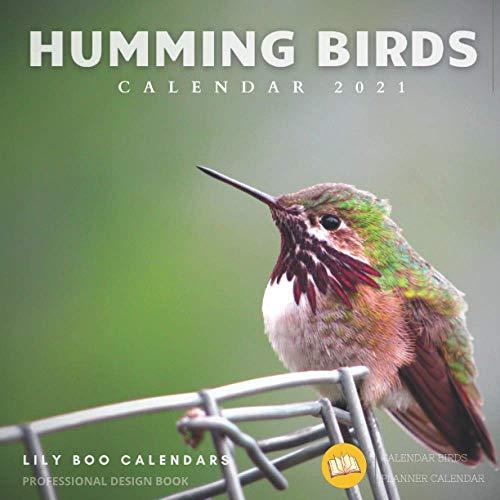 Humming Birds Calendar 2021: 12 month calendar 2020 - 2021