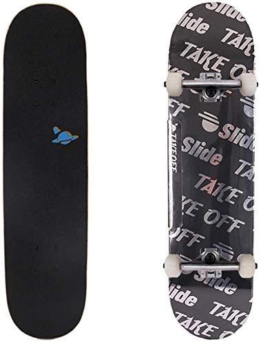 LFLLFLLFL Skateboard Monopatin Niños 7 Capas monopatín 31 x 7.8 Pulgadas Trucos completos Skate Board Brush Street Cruiser para Adolescentes Principiantes para Chicas niños niños Adolescentes Adultos