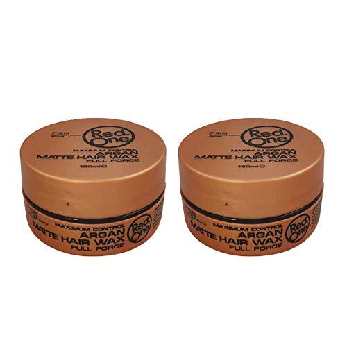 Red One - Cera para el cabello plena fuerza enriquecida con argán efecto mate, 150 ml, 2 unidades