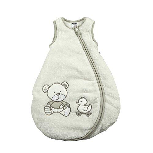 Jacky Baby Unisex Winter-Schlafsack, wattiert, Bear, Alter 12-24 Monate, Größe: 86/92, Farbe: Off White, 327106