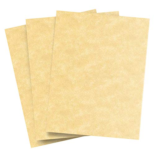 New Champagne Stationery Parchment Cardstock � Great for Writing, Certificates, Menus, Wedding Invitations | Premium Quality 65Lb Cover Stock | 8.5 x 11� Letter Size | 50 Sheets per Pack