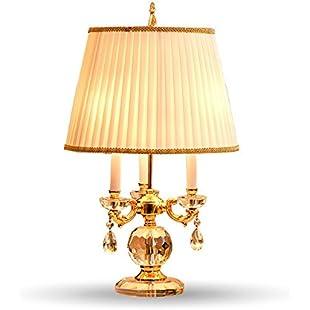 Bedroom Table Lamp White Fabric Lampshade Living Room Decoration Abajur Table lamp for Bedroom Lamparas De Mesa,White:Comoparardefumar