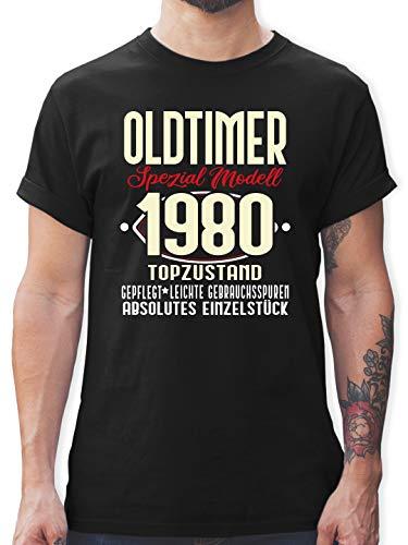 Geburtstag - Oldtimer Spezial Modell 19780-40. Geburtstag - L - Schwarz - Oldtimer Geschenke - L190 - Tshirt Herren und Männer T-Shirts